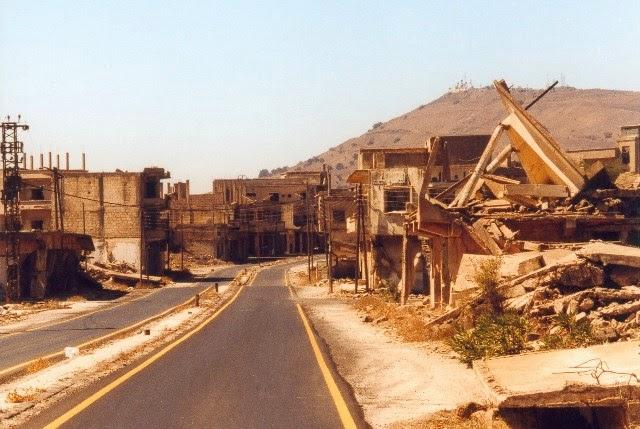 Quneitra, Siria (abandonada, 1974).