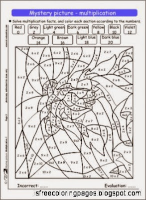 free mystery picture coloring pages - multiplication coloring pages free coloring pages