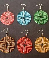 beaded disc earrings tanzania massai