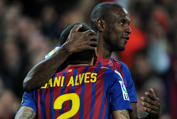 Éric Abidal and Daniel Alves were close friends during their time at Barcelona