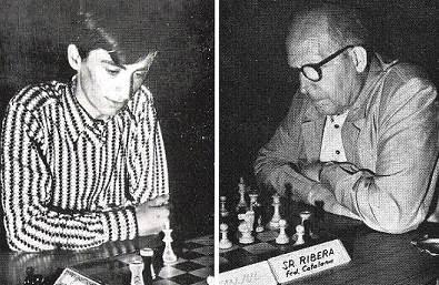 Los ajedrecistas Juan Manuel Bellón y Àngel Ribera