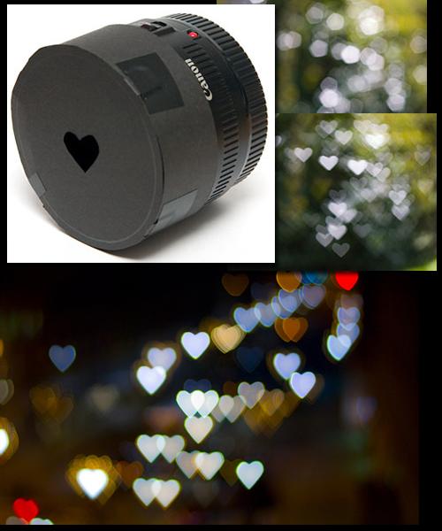 fotografia: Corações de luz - como fazer