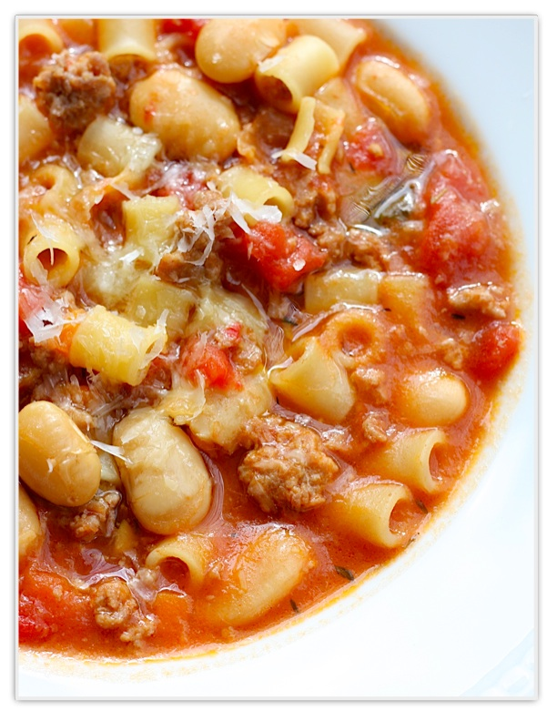 My Favorite Things: Sausage and Bean Soup with Pasta from ...