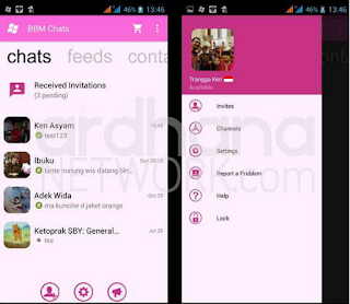 BBM Windows Phone Pink v2.10.0.35 Apk