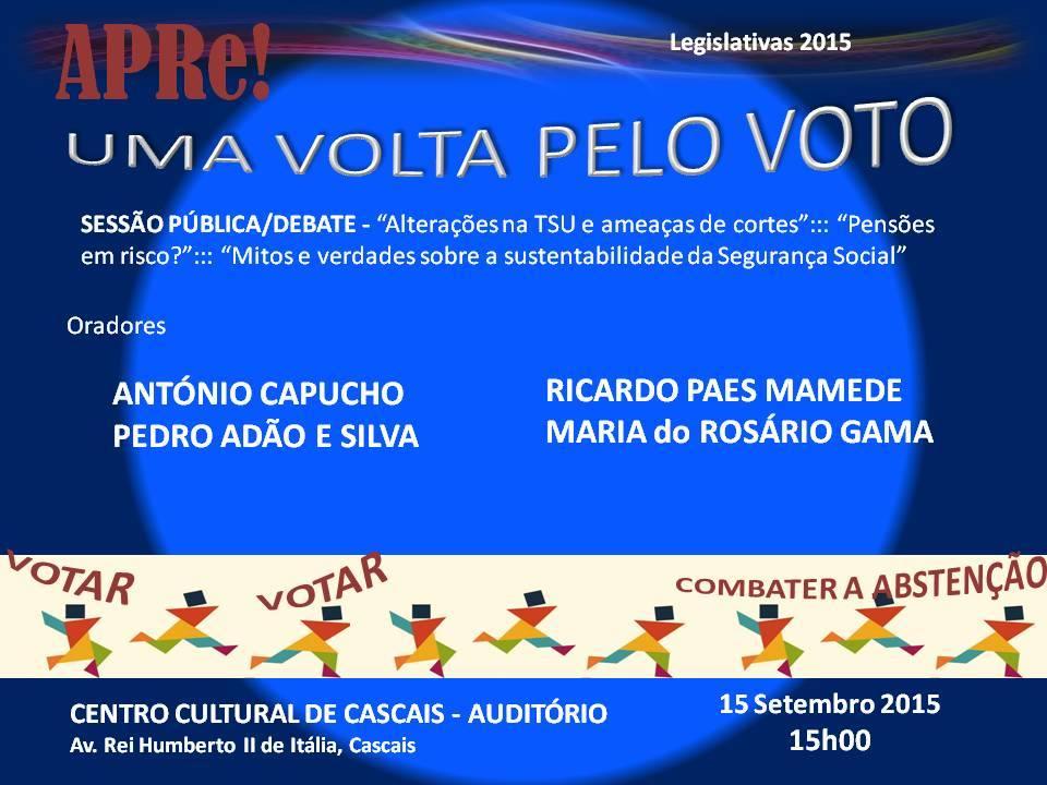 Uma volta pelo VOTO, sessão pública de esclarecimento promovida pela APRe! em Cascais