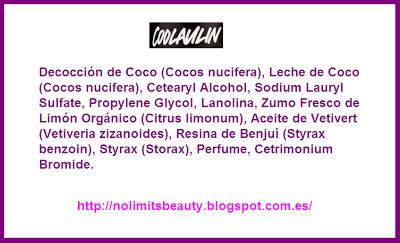 Ingredientes Coolaulin Acondicionador LUSH
