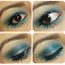 Verde/azul Sirena/Sea Mermaid