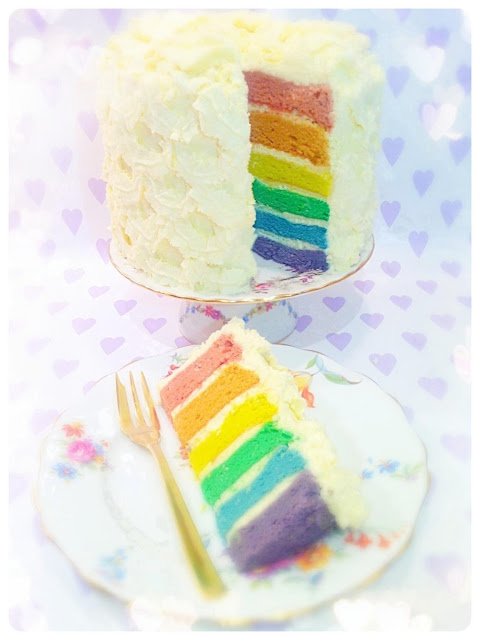 Cherie Kelly's Rainbow Cake