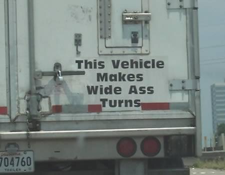 info belakang lori yang kelakar