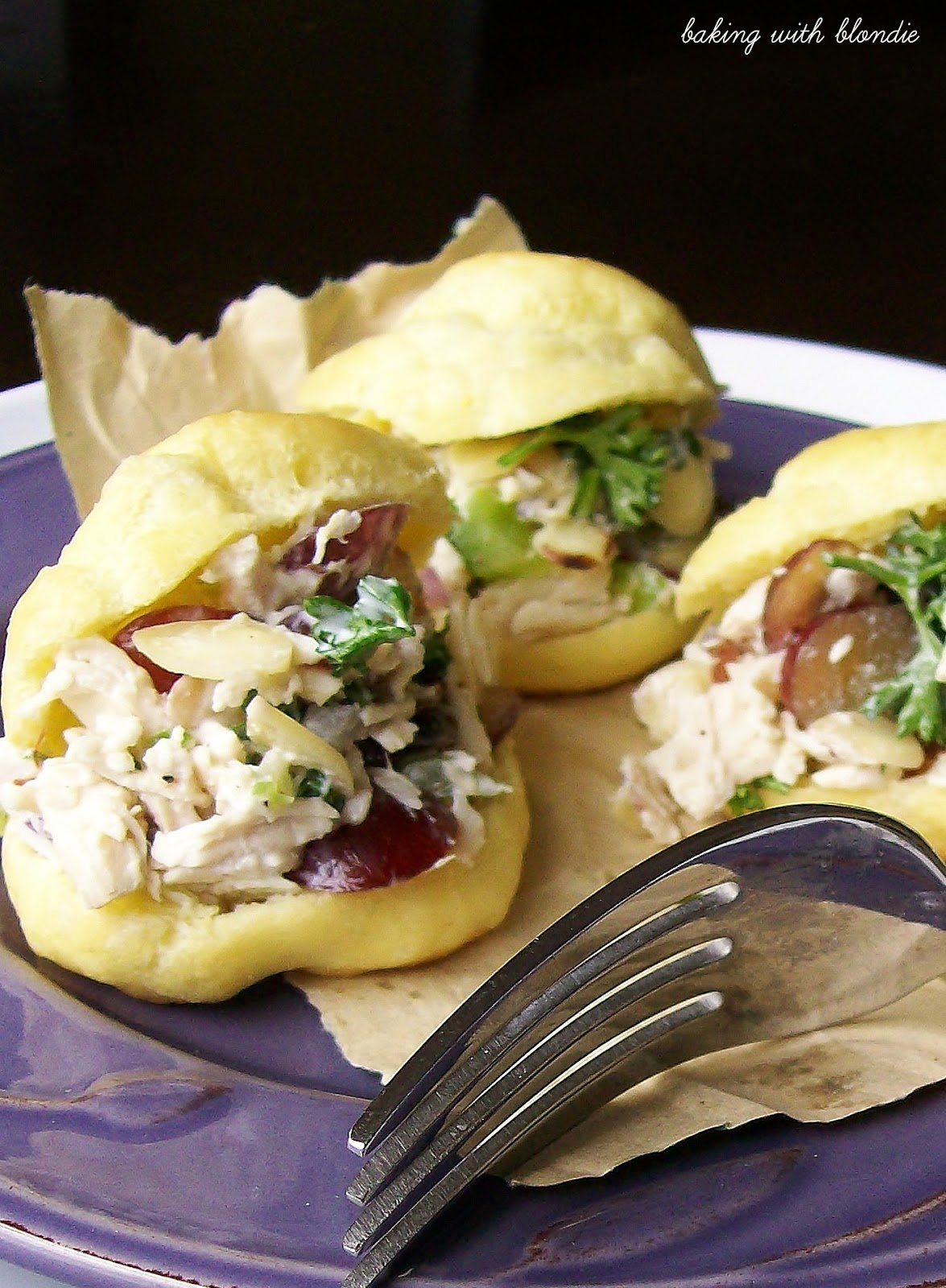 Baking with Blondie : Chicken Salad Puffs