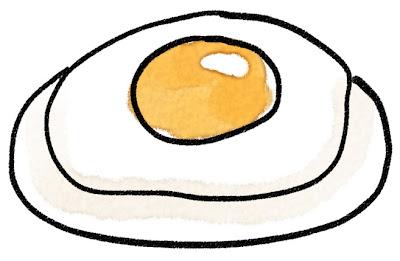 目玉焼きのイラスト