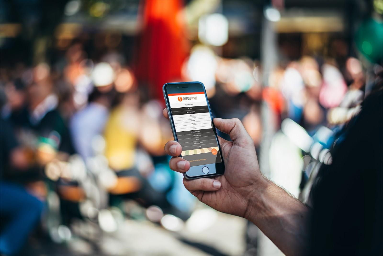 SineSet Film Yapım Responsive Web Design - Mobil