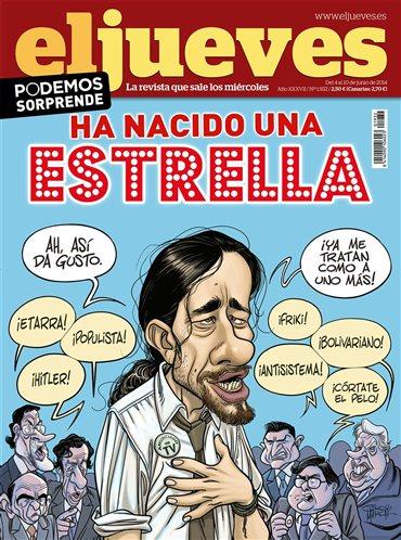 Pablo Iglesias,portada Jueves, Podemos