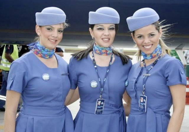 01Brazil252CAzulBrazilianAirlinesAirHostess - Air Hostess From Different Countries