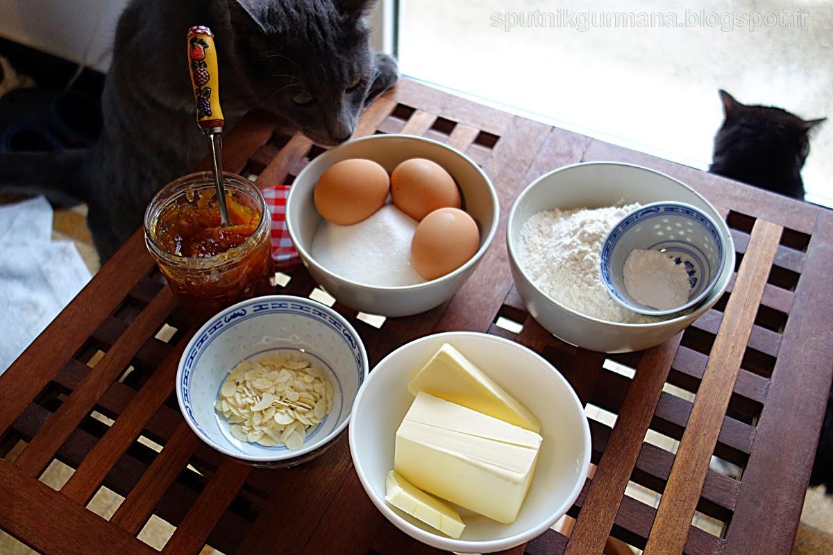 Кекс с апельсиновым вареньем: приготовление