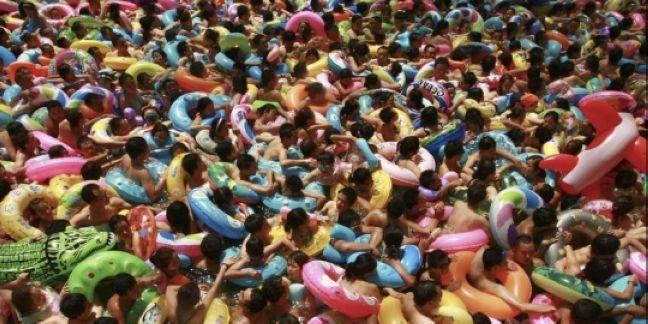 4. Crowded Pool