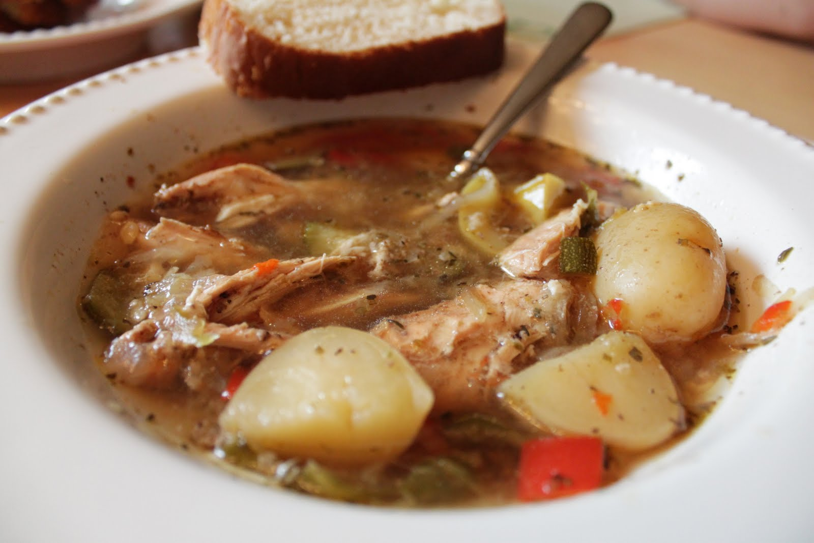 Wholesome Dinner Tonight: Chicken Vegetable Stew {Crock Pot}