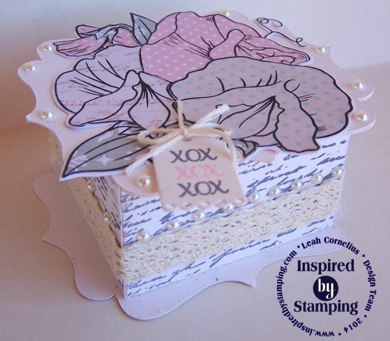 Inspired by Stamping, Leah Cornelius, Sweet Pea Stamp Set, Vintage Floral Paper Pad, Background Basics III, Gift Ideas, Boxes and more