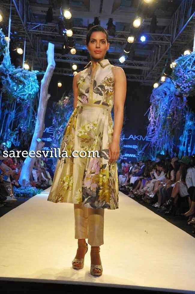 Models at Lakme Fashion Week Summer 2014 Affair