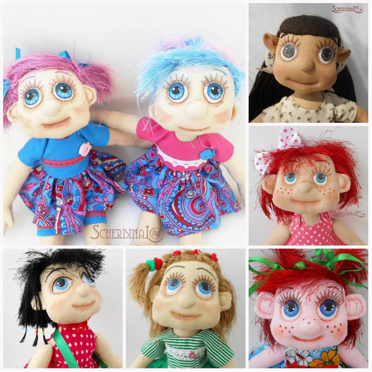 текстильные игровые куклы карамельки
