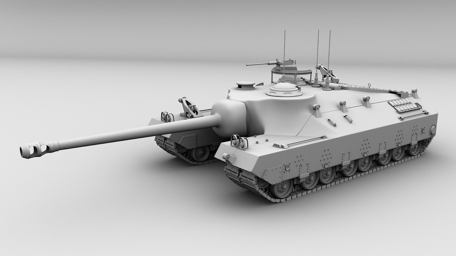 3d Modeling T28 Super Heavy Tank