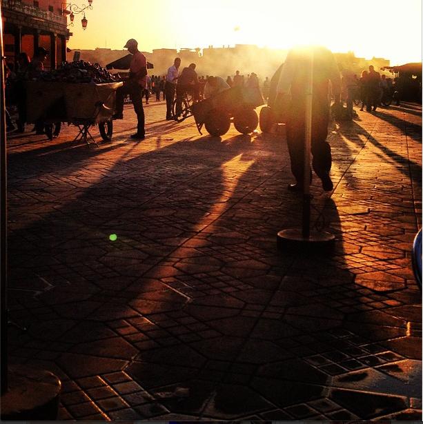 Marrakesh, Sunset Dinner.