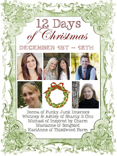 Welcome to 12 Days of Christmas! 5 blogs join forces opening their homes for 12 days, showing you what Christmas means to them. via Funky Junk Interiors