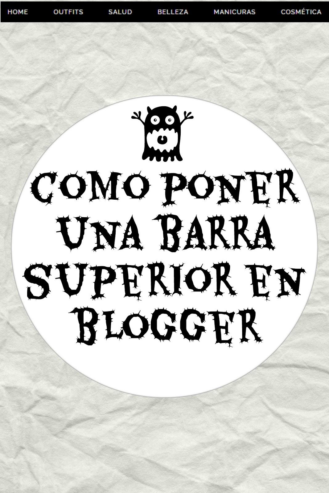 Barra en la parte de arriba de blogger