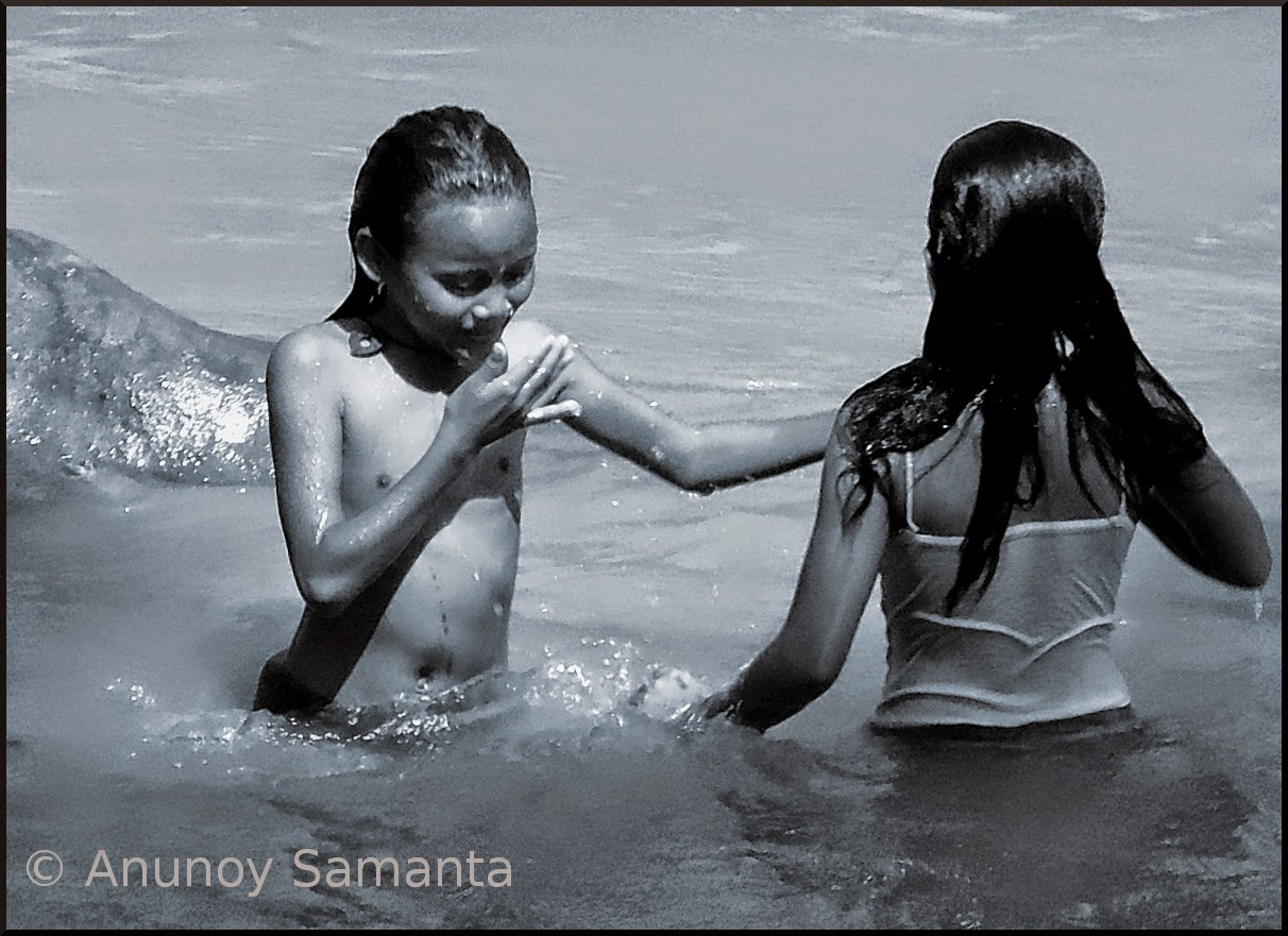 Kids Bathing and Playing in the River - a Photo Essay