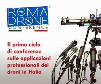 Quadricottero News media partner di Roma Drone Conference