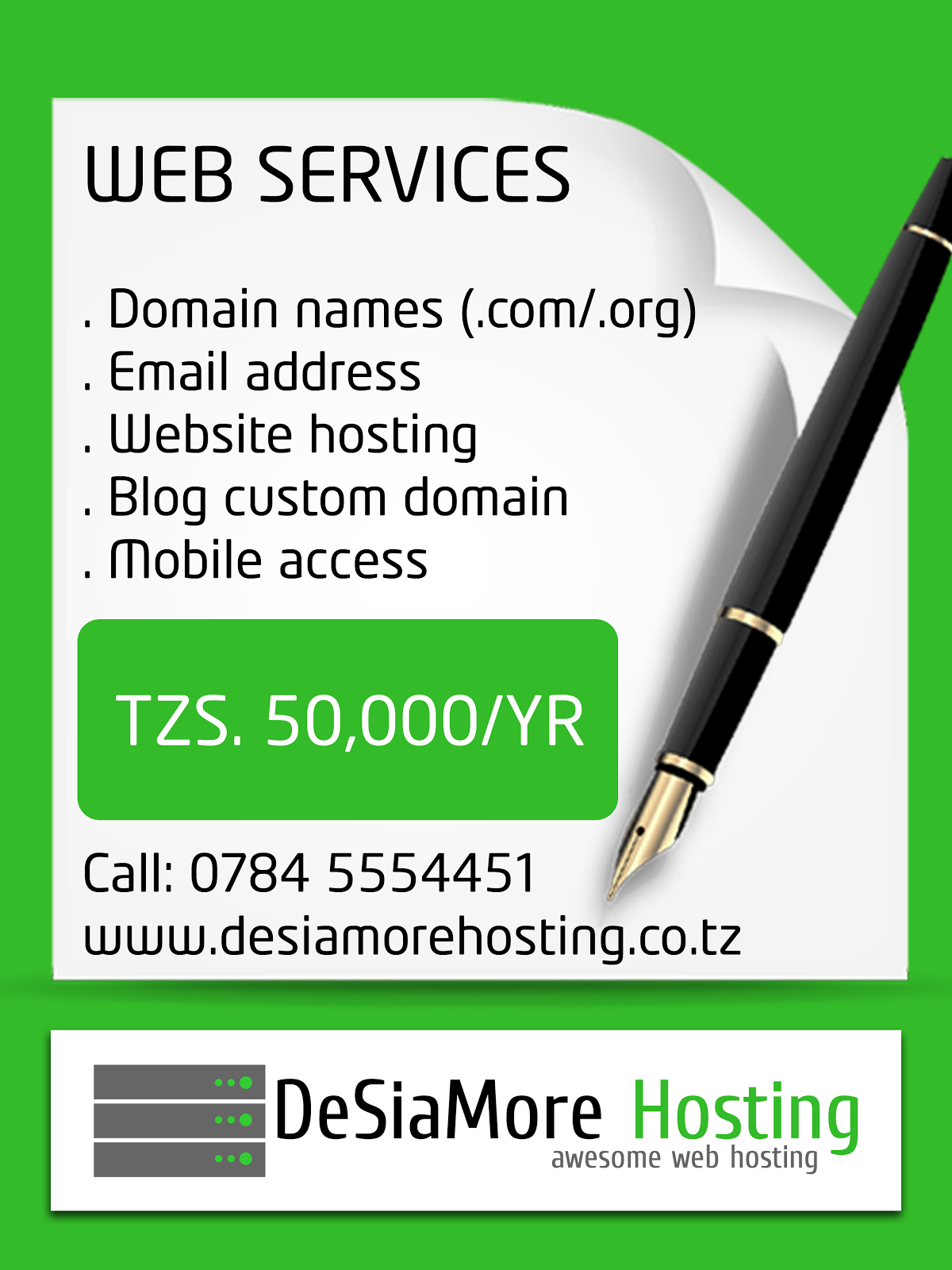 WEB & BLOG HOSTING SERVICES