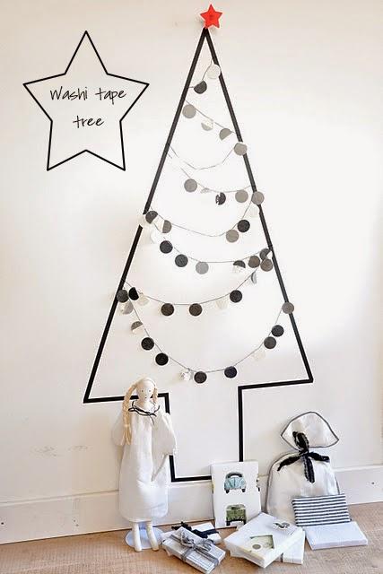 Árbol de navidad para pequeños espacios