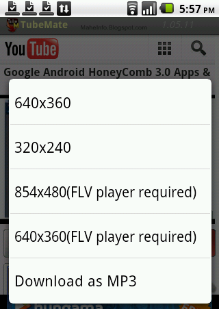 how to download youtube videos with your adroid phone