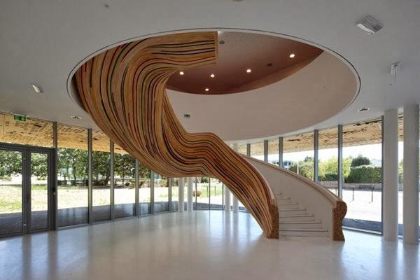 saint herblain sanat okulu merdivenleri