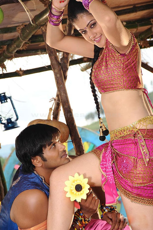 South Tabasee Showing Her Sexy White Thighs Spicy Navel and Deep Cleavage With Manju Manoj in Jhummandinadham telugu movieAmazing Photographs glamour images