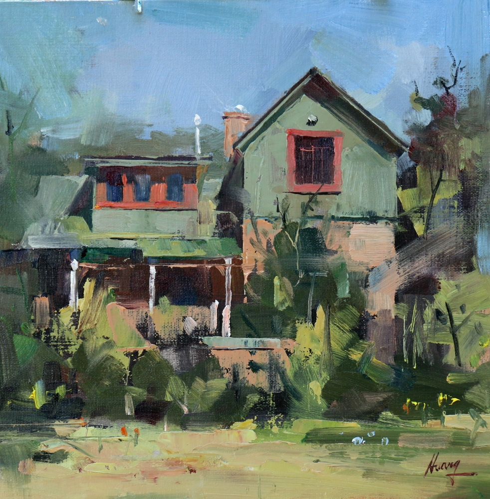 Qiang huang a daily painter vicki 39 s house for Oil paintings of houses