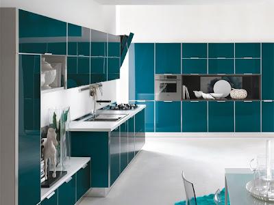 Una cocina verde decoraci n - Cocina verde agua ...