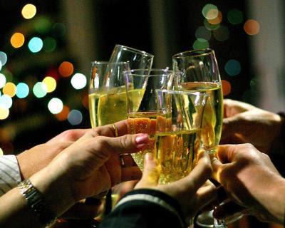 O Fim :( Brinde-champanhe