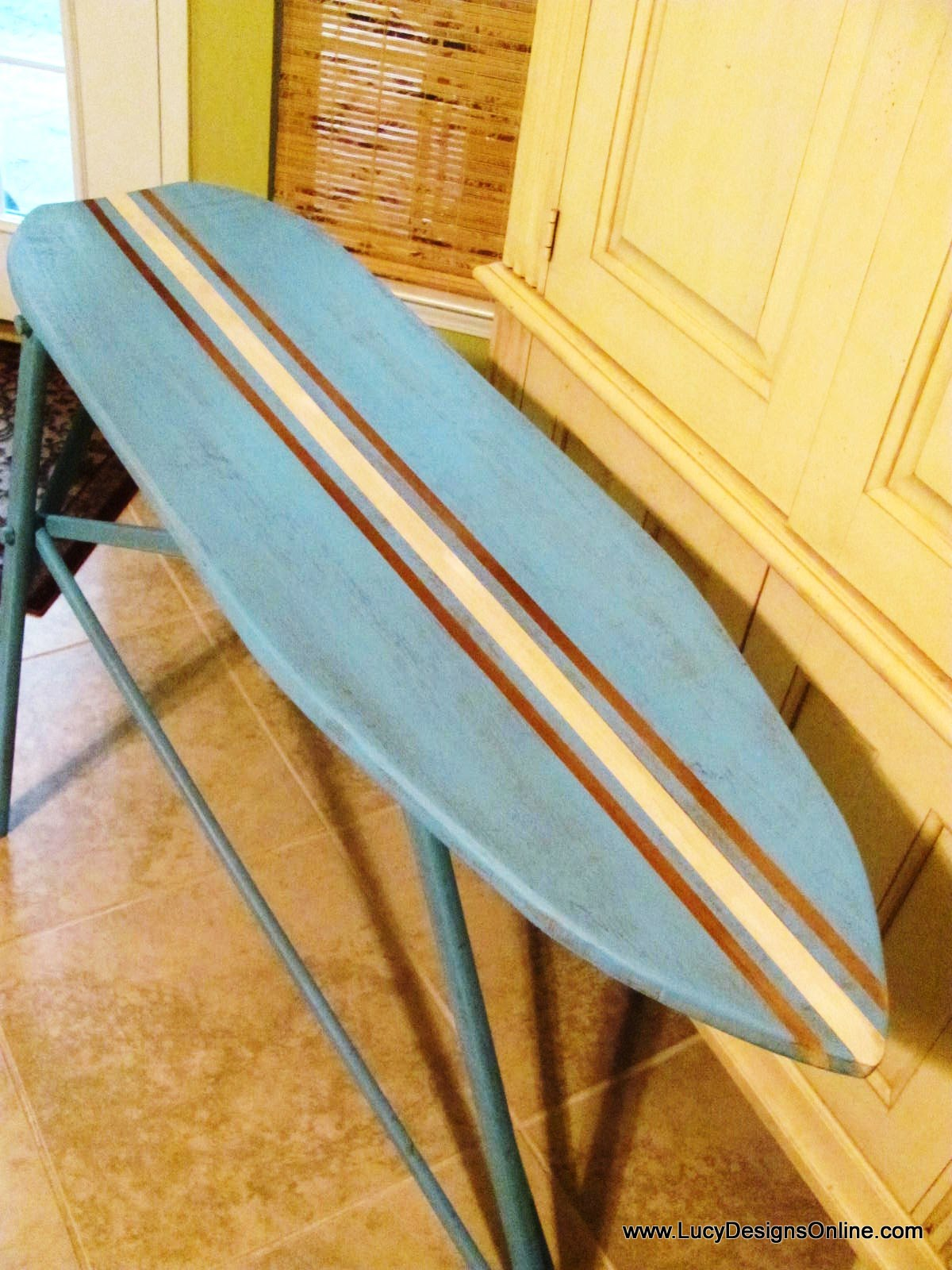 Ironing Board To Surf Board Table. Surfboard Table