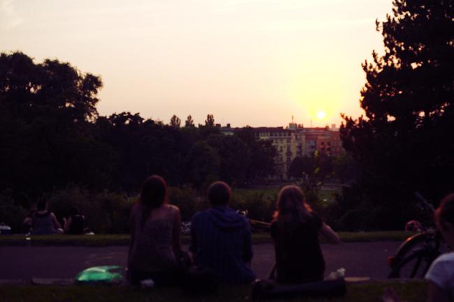 Kreuzberg Sonnenuntergang