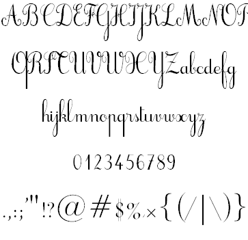 Cursive Script Gives A Personal Touch To Greeting Cards And LettersPlease Download These Two TTF Fonts Install Them On Your Computer