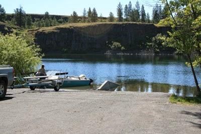 Boating the inland northwest badger lake spokane county for Silver lake washington fishing