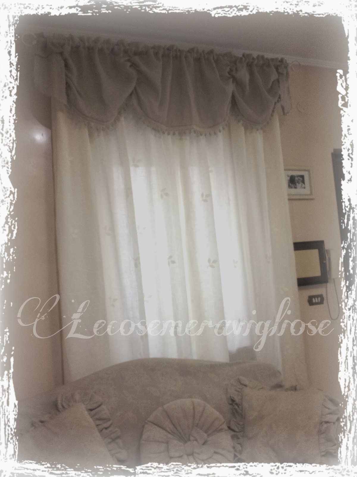 Lecosemeravigliose shabby e country chic passions tende cuscini e complementi creativi country - Tende country per camera da letto ...
