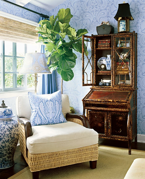 Living Room Decorating And Designs By Tina Barclay: Vintage Farmhouse: Bamboo Love