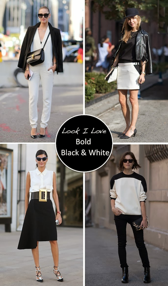 black and white street style, fashion week