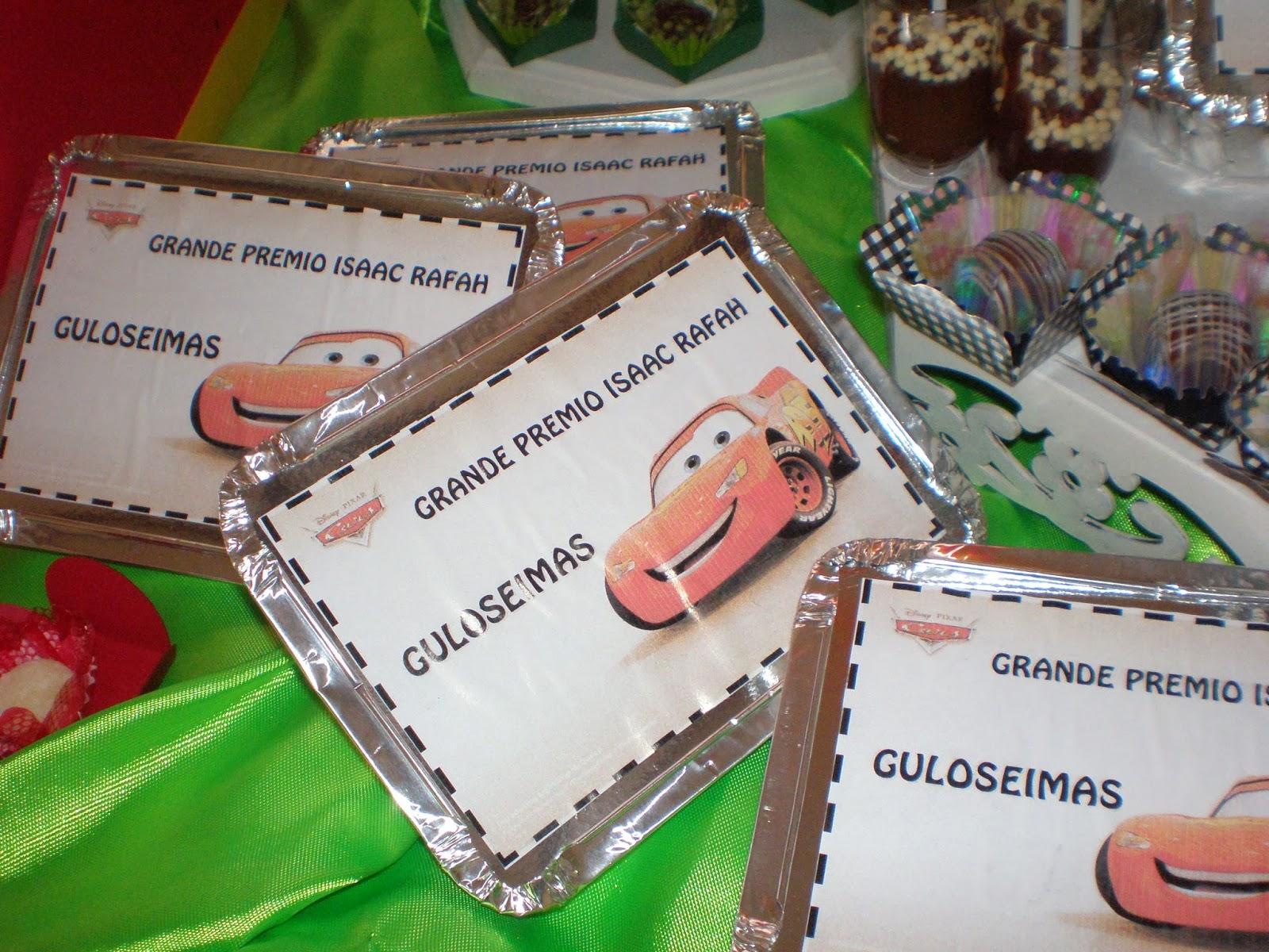 Festa Carros Mcqueen, bolo EVA