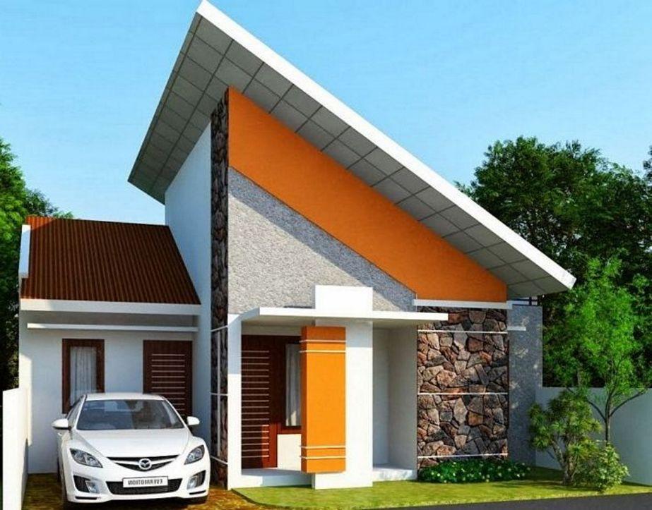 ide rumah mungil atap miring terkini