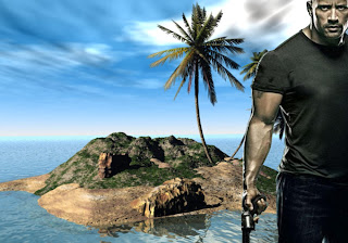 Dwayne Johnson Free Wallpapers Faster Action Movie in 3D Island background