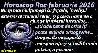 Horoscop Rac februarie 2016