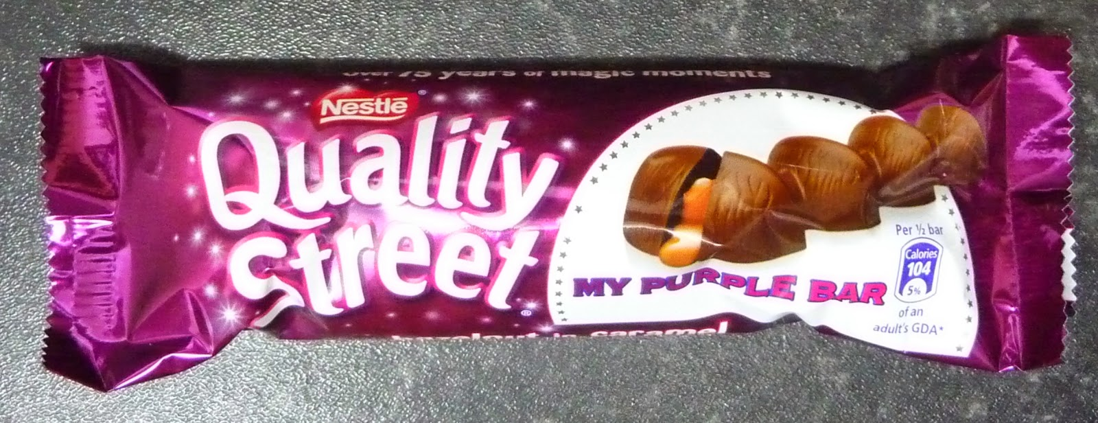 Something to look forward to: Nestlé Quality Street: My purple bar